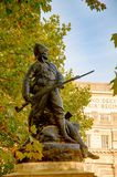 Statua żołnierz blisko łękowatej admiralici - Londyn, UK Zdjęcie Stock