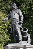 Statua Admiral Peter Tordenskjold w Oslo, Norwegia zdjęcia royalty free