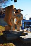 Statua agli immigrati italiani, Treviso, Italia Immagine Stock