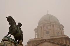 Statua al castello di Budapest Fotografie Stock