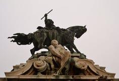 Statua al castello di Budapest Immagine Stock Libera da Diritti