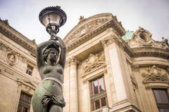 Statua al Palais Garnier, Parigi Immagini Stock