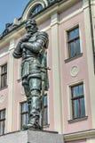 Statua Albrecht von Wallenstein del metallo in Frydlant fotografia stock libera da diritti