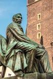 Statua Aleksander Fredro autore in Wroclaw polacco poeta, commediografo e Fotografia Stock Libera da Diritti