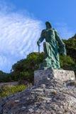 Statua alla spiaggia almunecar Fotografia Stock Libera da Diritti