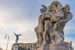 Statua anioła Ponte most Vittorio Emanuele II Tiber Rzeczny Rzym Włochy fotografia royalty free