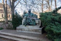 Statua Anonimowy, Vajdahunyad kasztel w Budapest, Węgry obrazy stock