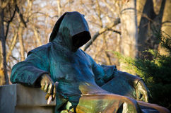 Statua Anonimowy w Budapest, Węgry obraz stock