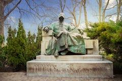 Statua Anonimowy w miasto parku Budapest zdjęcie royalty free