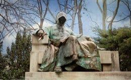 Statua Anonimowy w miasto parku, Budapest zdjęcia royalty free