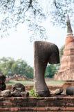 Statua antica Ayutthaya, Tailandia di Buddha Immagini Stock