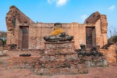 Statua antica Ayutthaya, Tailandia di Buddha Fotografie Stock Libere da Diritti