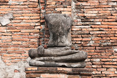 Statua antica del Buddha Fotografie Stock