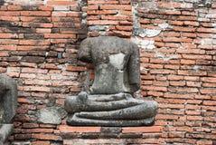 Statua antica del Buddha Immagini Stock Libere da Diritti
