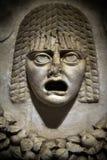 Statua antica del fronte del marmo di età immagine stock