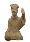 Statua antica dell'uomo cinese. fotografie stock libere da diritti