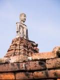 Statua antica di Buddha Fotografia Stock