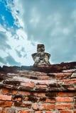 Statua antica di Buddha nel parco storico di Sukhothai, Tailandia Fotografia Stock Libera da Diritti