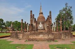 Statua antica di Buddha. Parco storico di Sukhothai in Sukhothai Fotografia Stock Libera da Diritti
