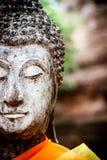 Statua antica di Buddha a Wat Yai Chai Mongkol Temple, Ayutthaya, Fotografia Stock Libera da Diritti