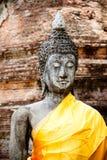 Statua antica di Buddha a Wat Yai Chaimonkol Temple, Ayutthaya, T Immagini Stock Libere da Diritti
