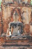 Statua antica di seduta di Buddha, punto di riferimento storico Immagine Stock