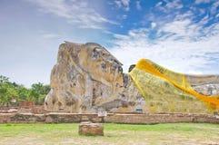 Statua antica di sonno buddha Fotografia Stock Libera da Diritti
