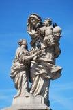 Statua antica a Praga fotografia stock libera da diritti