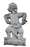 statua antyczny chiński wojownik Zdjęcia Royalty Free
