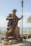 Statua apostoł Peter, Capernaum, morze Galilee, Izrael Fotografia Royalty Free