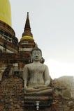 Statua archeologica di Buddha del sito Fotografia Stock
