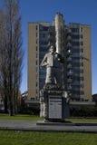 Statua architekt HP Berlage przy zwycięstwo kwadratem w Amsterdam Fotografia Stock