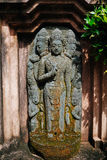 Statua asiatica nel giardino Fotografia Stock Libera da Diritti