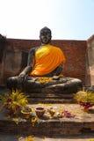 Statua in Ayuddhaya Tailandia Immagine Stock Libera da Diritti