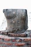 Statua Ayutthaya Tailandia di Buddha Immagini Stock Libere da Diritti