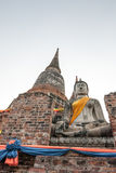 Statua Ayutthaya Tailandia di Buddha Fotografia Stock Libera da Diritti