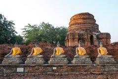 Statua Ayutthaya Tailandia di Buddha Fotografia Stock