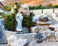 Statua Błogosławiony maryja dziewica w Medjugorje obrazy stock