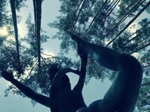 - statua baletniczy tancerz w central park w Irpin, Kyiv, Kijów, Ukraina, EUROPA -/- obraz stock