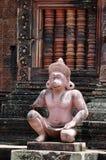 Statua Banteay Srei - Cambogia della scimmia Fotografie Stock