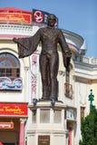 Statua Basilio Calafati w Wurstelprater Parka rozrywkiego plociuch, Wiedeń, Austria, Europa fotografia stock
