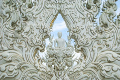 Statua bianca del buddha Immagine Stock Libera da Diritti
