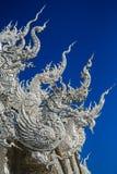 Statua bianca del drago Fotografia Stock Libera da Diritti