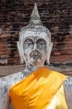 Statua bianca di Buddha Fotografia Stock