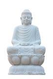 Statua bianca di Buddha di meditazione di stile cinese Immagine Stock Libera da Diritti