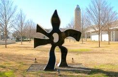 Statua in bianco e nero a Kimball Art Museum Fort Worth, il Texas fotografia stock libera da diritti