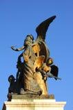 Statua Bronze nel monumento di Emmanuel del vincitore   immagine stock libera da diritti