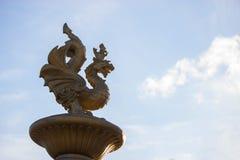 Statua bronzea del drago fotografie stock