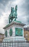 Statua bronzea dell'equites di re Frederik V a Copenhaghen Fotografia Stock