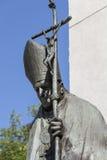 Statua bronzea della st John Paul II sull'altare tre millenni, Cracovia, Polonia Immagini Stock Libere da Diritti